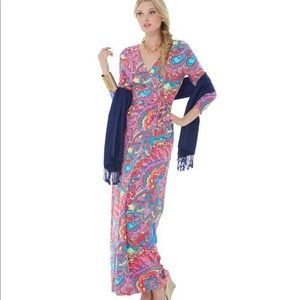 Lilly Pulitzer Adrina Maxi Wrap Dress - XS